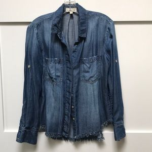 Cloth & Stone denim shirt from Anthropologie